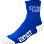 For Bare Feet Men's University of Kentucky Team Color Quarter Socks