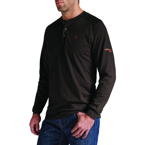 Ariat Men's Flame Retardant Long Sleeve Henley Work Shirt