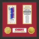 The Highland Mint Kansas City Chiefs Super Bowl Championship Ticket Collection