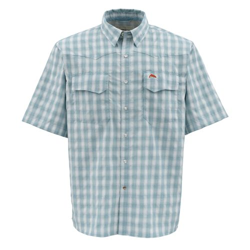 Simms Men's Off-Water Big Sky Short Sleeve Plaid Shirt