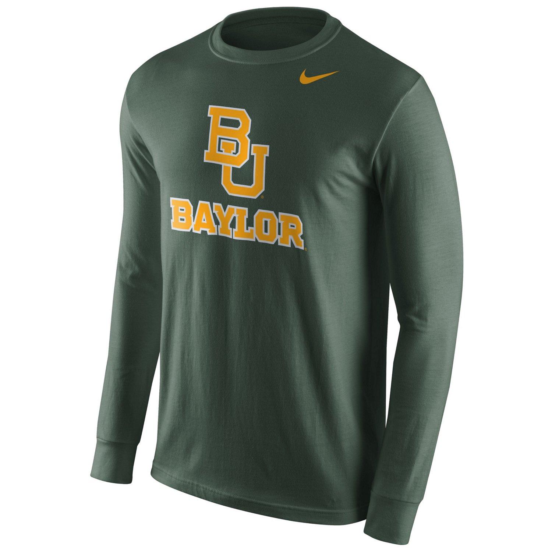 Nike Men's Baylor University Long Sleeve Logo T-shirt