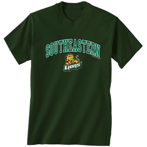 New World Graphics Men's Southeastern Louisiana University Arch Mascot T-shirt