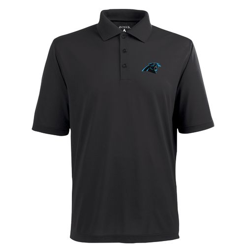Antigua Men's Carolina Panthers Piqué Xtra-Lite Polo Shirt