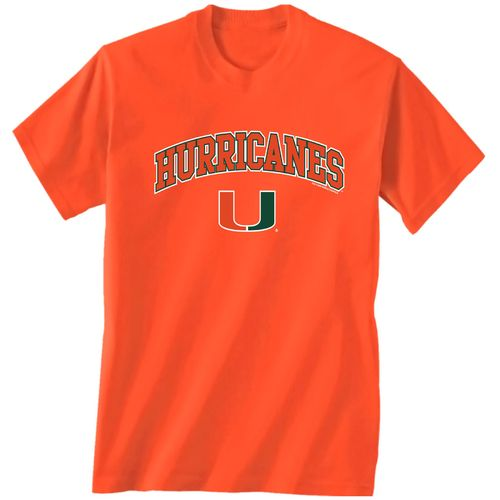 New World Graphics Men's University of Miami Arch Mascot T-shirt