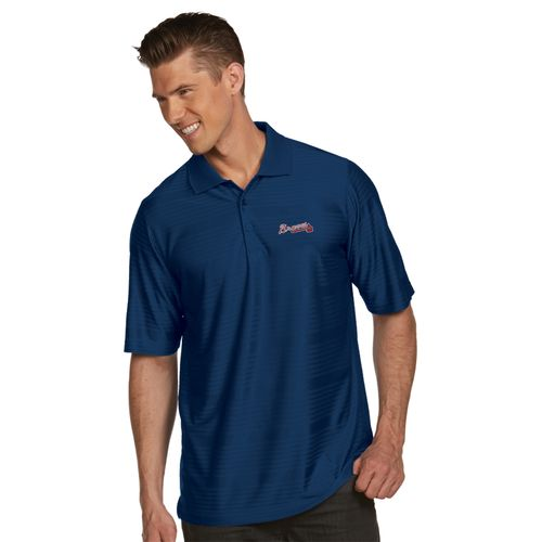 Antigua Men's Atlanta Braves Illusion Polo Shirt - view number 2