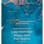 Standard Mapping 353 Lake Hermitage - Happy Jack - Port Sulphur Louisiana Folded Map - view number 1