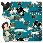 The Northwest Company Jacksonville Jaguars Mickey Mouse Hugger and Fleece Throw Set