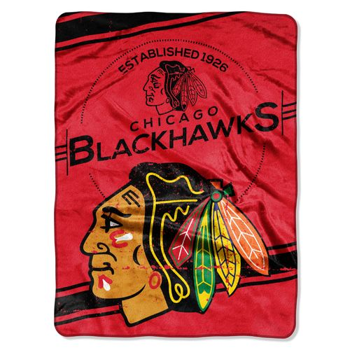 The Northwest Company Chicago Blackhawks Stamp Raschel Throw