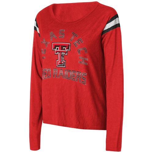 Touch by Alyssa Milano Women's Texas Tech University Cascade Long Sleeve T-shirt