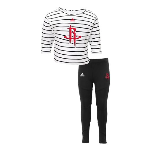 adidas™ Toddler Girls' Houston Rockets Sweetheart Long Sleeve Pant Set