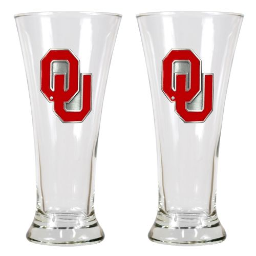 Great American Products University of Oklahoma 19 oz. Pilsner Glasses 2-Pack