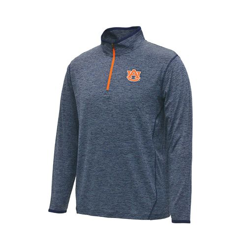 Colosseum Athletics Men's Auburn University Action Pass Long Sleeve 1/4 Zip Pullover