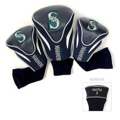 Team Golf Seattle Mariners Contour Sock Head Covers 3-Pack
