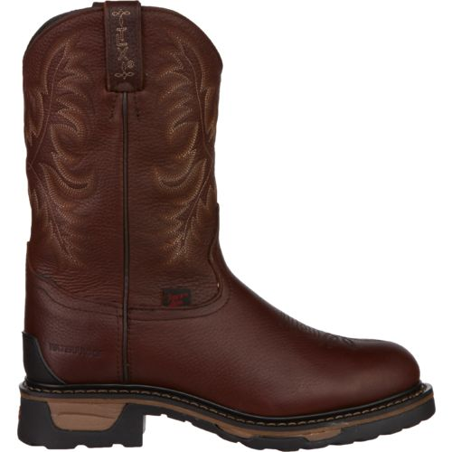 Tony Lama Men's Briar Pitstops TLX Waterproof Steel-Toe Western Work Boots