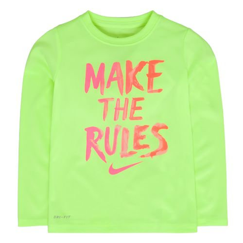 Nike Girls' Rules Long Sleeve T-shirt