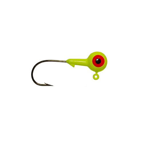 Big Bite Baits 2-Eye 1-Color Round Jigheads 10-Pack