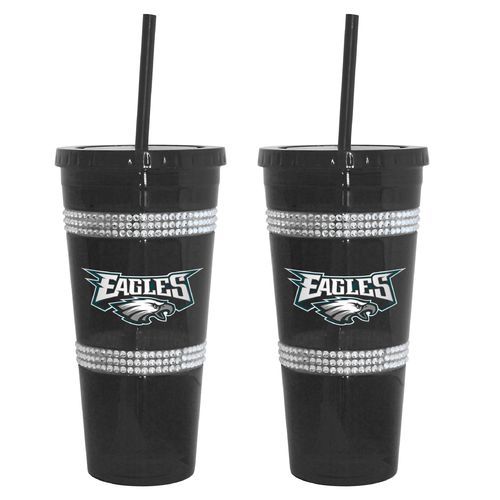 Boelter Brands Philadelphia Eagles 22 oz. Bling Straw Tumblers 2-Pack