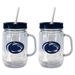 Boelter Brands Penn State 20 oz. Handled Straw Tumblers 2-Pack