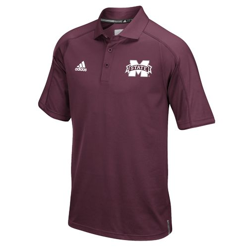 adidas™ Men's Mississippi State University Sideline Polo Shirt