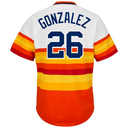 Majestic Men's Houston Astros Luis Gonzalez #26 Cooperstown Cool Base 1986 Replica Jersey