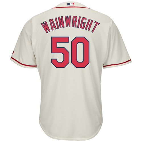 Majestic Men's St. Louis Cardinals Adam Wainwright #50 Cool Base Replica Jersey