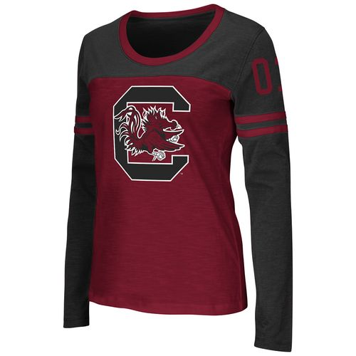 Colosseum Athletics™ Women's University of South Carolina Hornet Football Long Sleeve T-shi