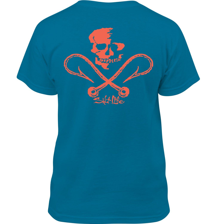 Salt Life™ Boys' Skull and Hooks T-shirt