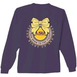 New World Graphics Women's Louisiana State University Ribbon Bow Long Sleeve T-shirt