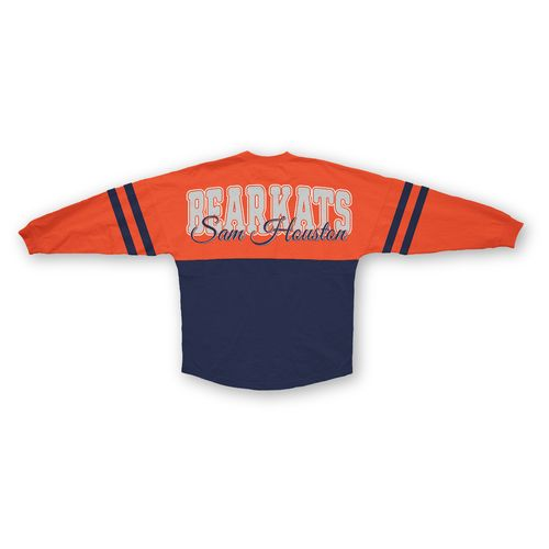 Three Squared Juniors' Sam Houston State University Varsity Script Logo Sweeper T-shirt