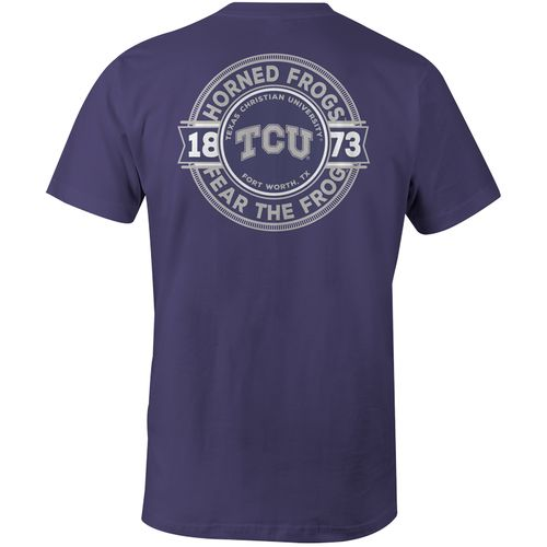 Image One Men's Texas Christian University Rounds Comfort Color T-shirt