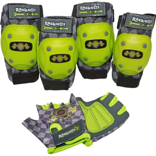 Display product reviews for Raskullz Boys' Bike Riderz Pad and Glove Set