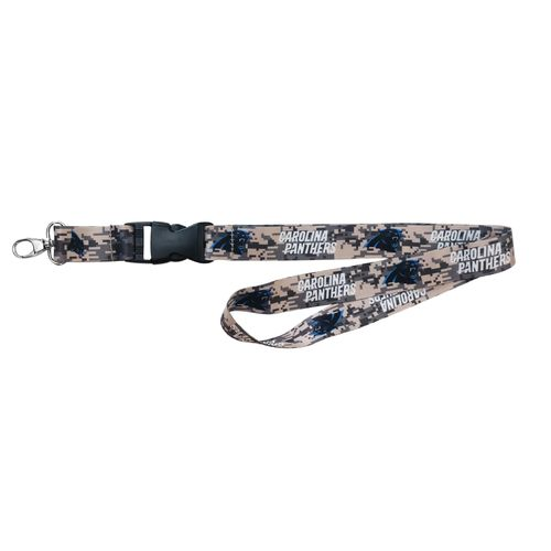 NFL Carolina Panthers Digicam Lanyard