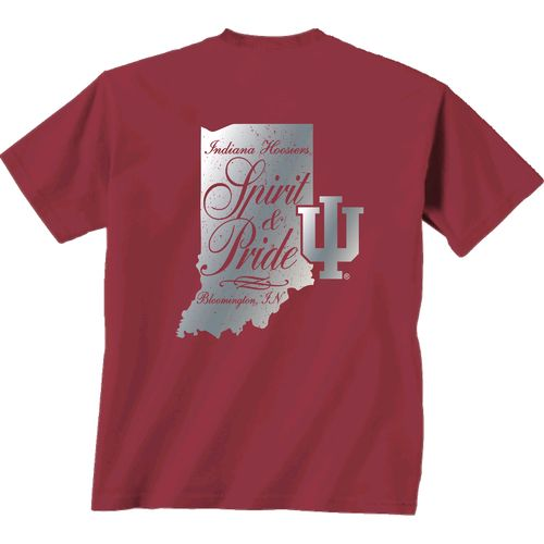 New World Graphics Women's Indiana University Distress CC T-shirt