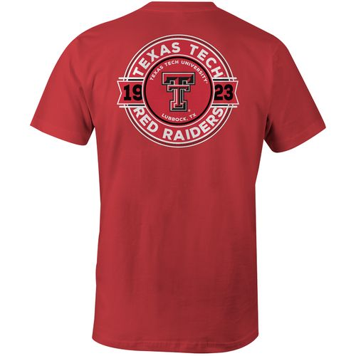 Image One Men's Texas Tech University Rounds Comfort Color Short Sleeve T-shirt