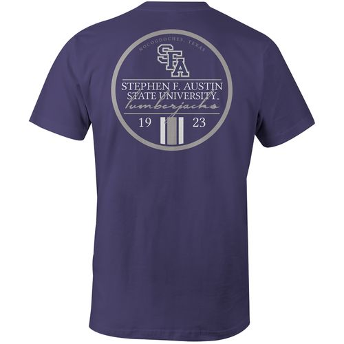 Image One Men's Stephen F. Austin State University Simple Circle Lines Comfort Color T-shirt