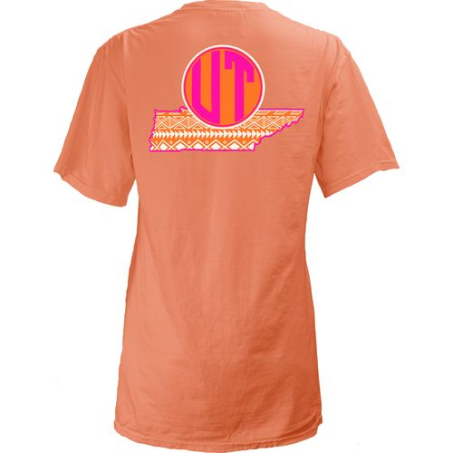 Three Squared Juniors' University of Tennessee Moonface T-shirt