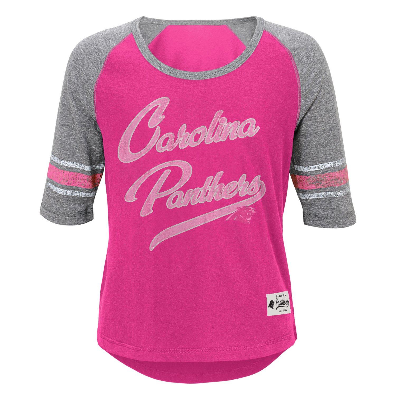 NFL Girls' Carolina Panthers High-Low T-shirt
