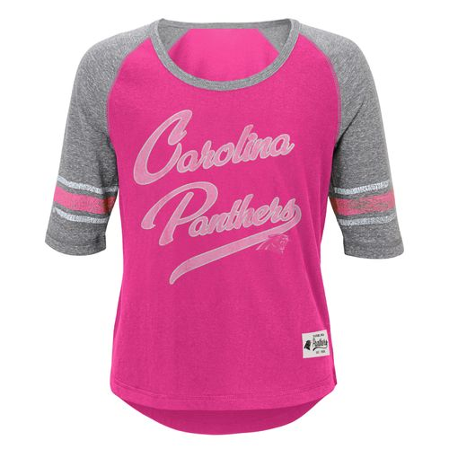 NFL Girls' Carolina Panthers High-Low T-shirt