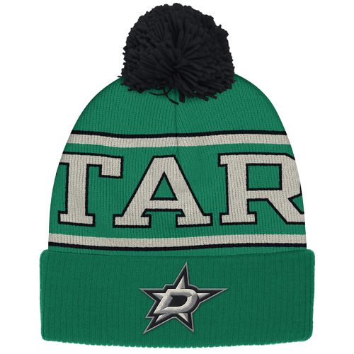 Reebok Men's Dallas Stars Cuffed Pom Knit Cap