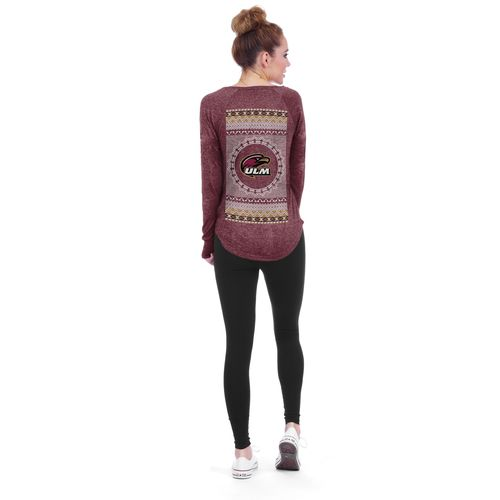 Chicka-d Women's University of Louisiana at Monroe Favorite V-neck Long Sleeve T-shirt