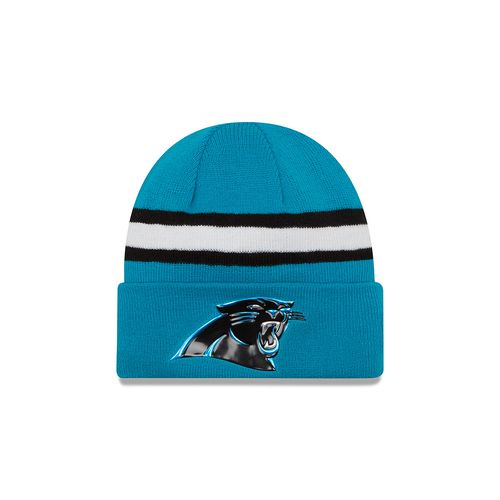 New Era Men's Carolina Panthers Onfield Color Rush Knit Hat