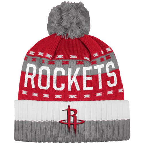 adidas™ Men's Houston Rockets Cuffed Pom Knit Hat