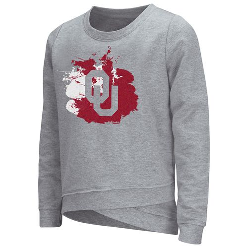 Colosseum Athletics™ Girls' University of Oklahoma Alaia Long Sleeve Pullover