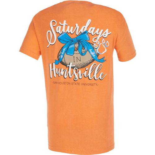 Image One Women's Sam Houston State University Laces and Bows Comfort Color T-shirt