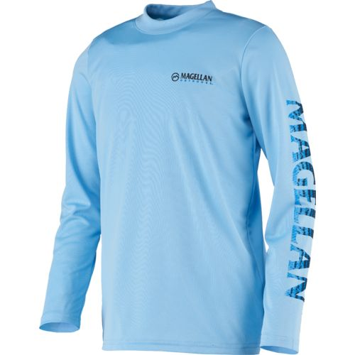 Magellan Outdoors Boys' Fish Gear Crewman Logo Long Sleeve T-shirt
