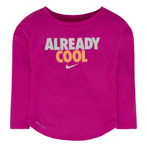 Nike Girls' Already Cool Long Sleeve T-shirt