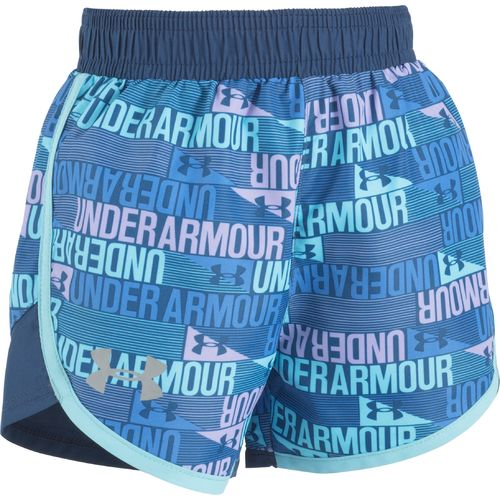 Under Armour Girls' Fast Lane Wordmark Printed Short