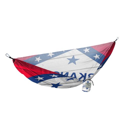 Twisted Root Design Twisted Print Arkansas Wood Flag Hammock