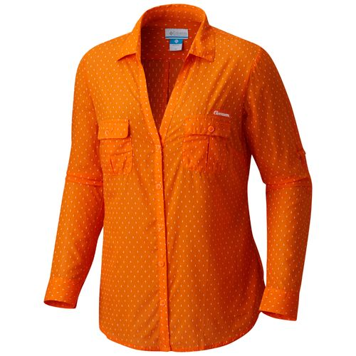 Columbia Sportswear Women's Clemson University Sun Drifter Button Down Shirt