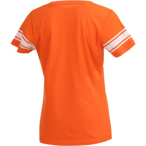 G-III for Her Women's Houston Dynamo First Pick Striped V-neck T-shirt - view number 2